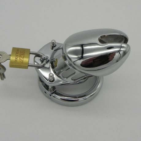 Small Size, Alloy Metal Male Chastity Cage, 40mm Inside Diam Cock Cage,Penis Lock
